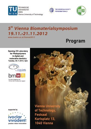 Program Monday, 19.11.2012 - Technische Universität Wien