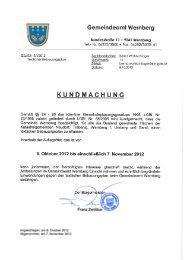 kundmachung textlicher bebauungsplan - Gemeinde Wernberg