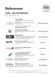 Referenzliste Yulia mit Logos und Links