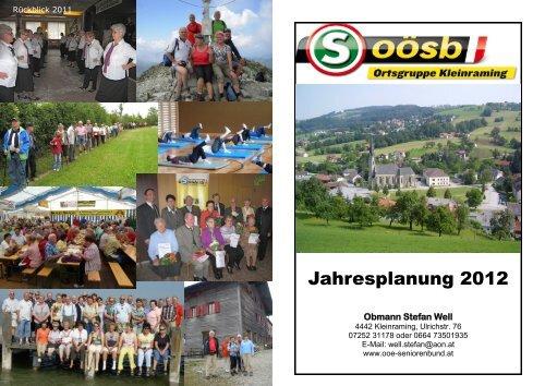 Jahresplanung 2012 - Seniorenbund Steyr Land