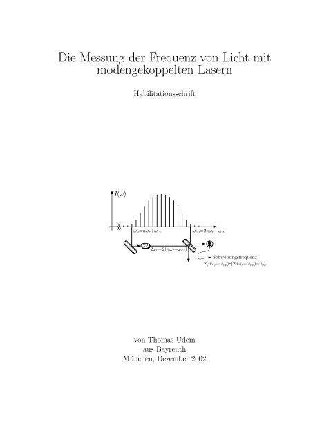 Die Messung der Frequenz von Licht mit modengekoppelten ...