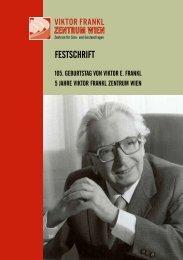 Download Festschrift (PDF) - Viktor Frankl Zentrum