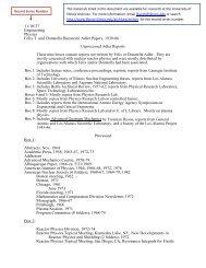 Download Box / Folder List - The University of Illinois Archives