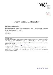 ePub Institutional Repository - Wirtschaftsuniversität Wien