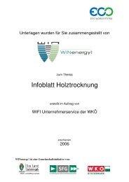 Infoblatt Holztrocknung - WIN