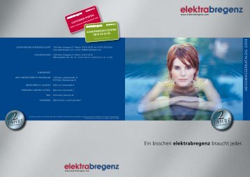 Ein bisschen elektrabregenz braucht jeder. - Emarketingservice.net