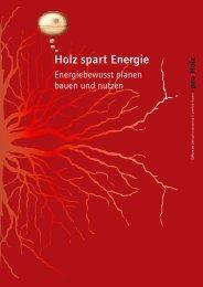 Holz spart Energie - proHolz Kärnten