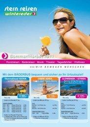 Busreise-Angebote Sommer 2011