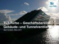 und Tunnelventilatoren - TLT Turbo GmbH