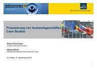 Finanzierung von Auslandsgeschäften Case Studies - Ecoplus ...
