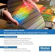 Wallak Informatics GmbH Ihr kompetenter Partner für ... - IBM