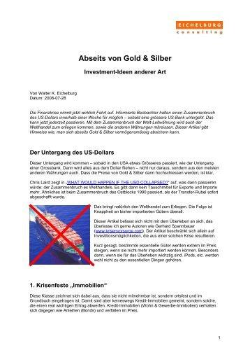 Abseits von Gold & Silber