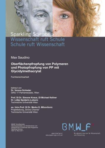 Oberflächenpfropfung von Polymeren und ... - Sparkling Science