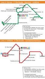 Linie 3: VARENA - F.Öttl-Straße - Landeskrankenhaus Linie 2 ...