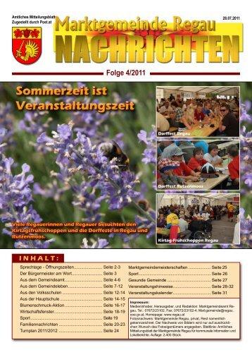 Gemeinde - Nachrichten Nr. 4/2011 - Regau