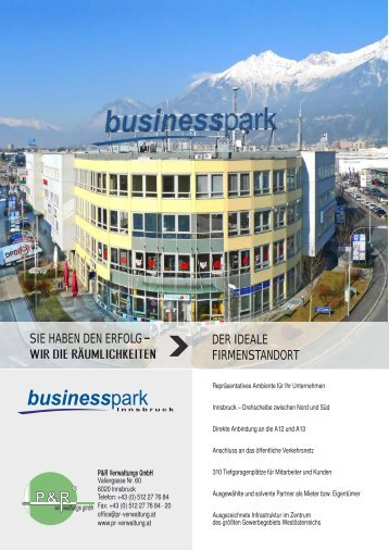 Businesspark Innsbruck - ABC Tirol