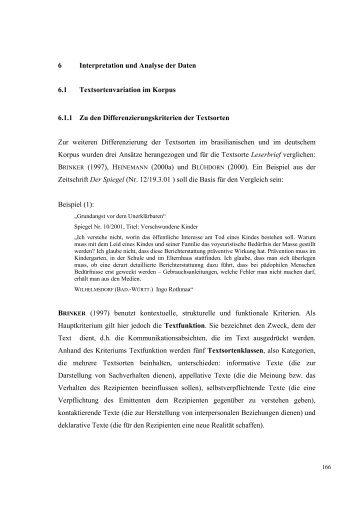 6 Interpretation und Analyse der Daten 6.1 Textsortenvariation im ...