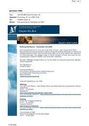 AK_Kulturportal Newsletter_Juli_06 - Die Stelzer