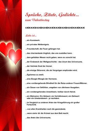 Sprüche, Zitate, Gedichte... Zum Valentinstag