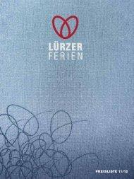 PREISLISTE 11/12 - Lürzer Hotels