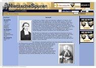 Friedrich Nietzsche - Spuren - Biographie - Istituto Marco Belli