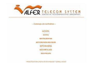 Catalogo de centralitas - Alfer Telecom System