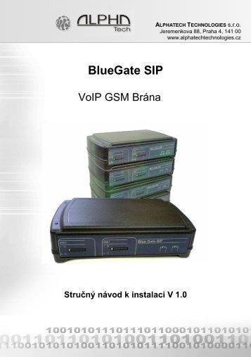 BlueGate SIP - ALPHATECH TECHNOLOGIES sro