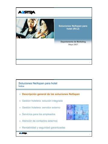Soluciones NeXspan para hotel - Bienvenido a Aton Tecnología y ...