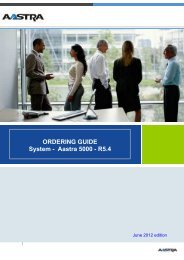 ORDERING GUIDE System - Aastra 5000 - R5.4