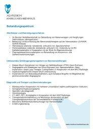 Behandlungsspektrum - AGAPLESION MARKUS KRANKENHAUS