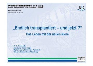 Swoboda Ffd 2009 - Transplantationszentrum - Universitätsklinikum ...
