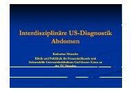 Interdisziplinäre US Interdisziplinäre US-Diagnostik Diagnostik p g ...