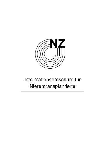 Informationsbroschüre für transplantierte Patienten - Nierenzentrum ...