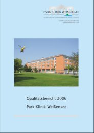 Qualitätsbericht, Parkklinik [261101721] - Park Klinik Weißensee