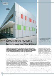 Material for façades, furnitures and facilities
