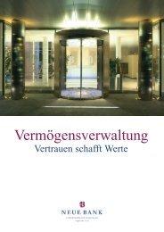 Vermögensverwaltung - Neue Bank AG