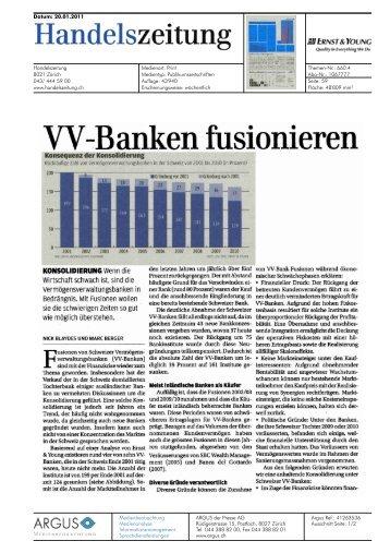 VV-Banken fusionieren - Home - Ernst & Young - Schweiz