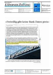 «Freiwillig gibt keine Bank Daten preis» - Home - Ernst & Young ...