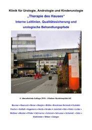 """""""Therapie des Hauses"""" Interne Leitlinien ... - Klinikum Weiden"""