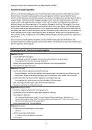 Toxische Enzephalopathie - Amalgam Informationen