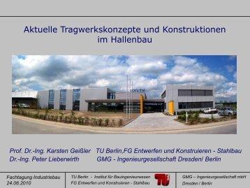 Aktuelle Tragwerkskonzepte und Konstruktionen im Hallenbau ...