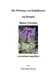 Die Wirkung von Heilpflanzen am Beispiel Blauer Eisenhut ...