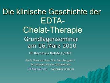 Geschichte der EDTA-Chelat-Therapie