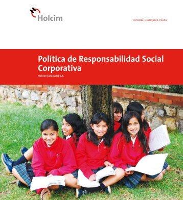 Política de Responsabilidad Social Corporativa - Holcim