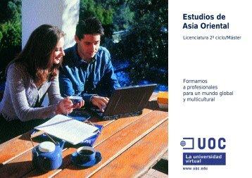 Estudios de Asia Oriental - Casa Asia