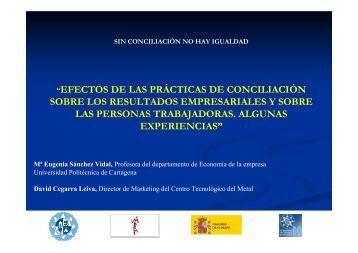 Sin conciliación no hay igualdad - Universidad Politécnica de ...