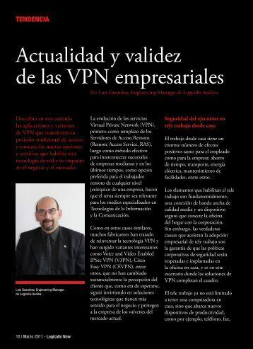 Actualidad y validez de las VPN empresariales - Logicalis