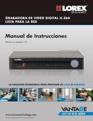 Manual de Instrucciones - Lorex