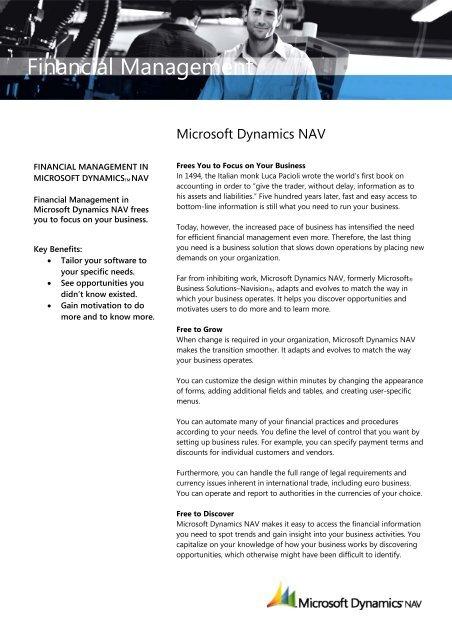Microsoft Dynamics Nav Financial Management Pdf Interdyn Aka