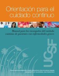 Manual para los encargados del cuidado continuo de pacientes con ...